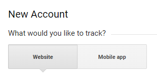 Select Website tracking