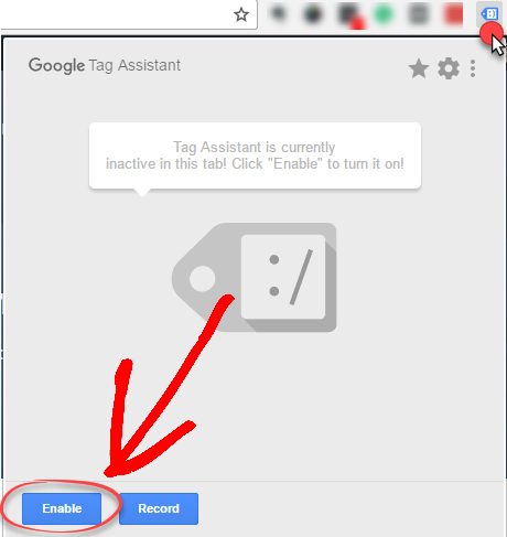 google tag assistant enable