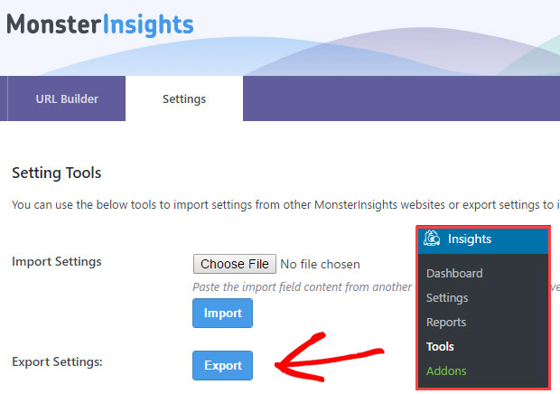 export-monsterinsights-settings