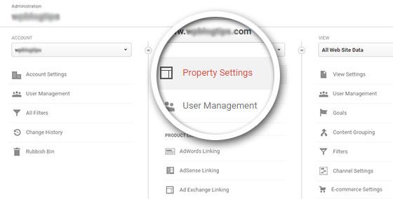 Click Property Settings