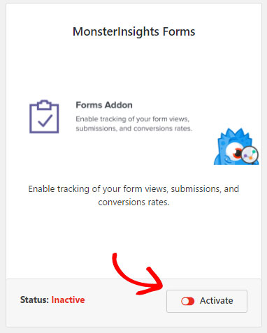 forms addon activate