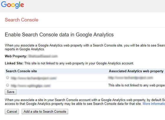 enable search console data
