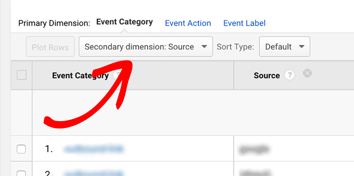Set Secondary Dimension on Google Analytics Outbound Links