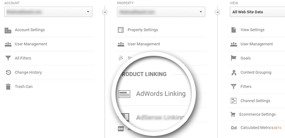 Click AdWords Linking