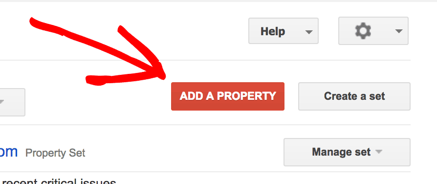 Add a Property in Google Search Console (Formerly Google Webmaster Tools)